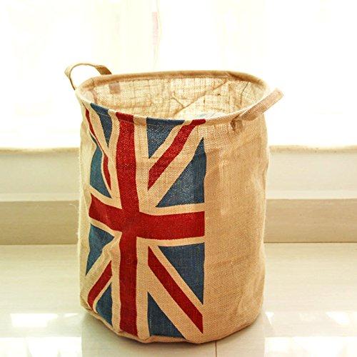 Lqchl Großbritannien Stil Wasserdicht Aufbewahrungskörbe Schmutzige Wäsche Wäsche Waschen Behindern Schaufel 35 Cm X 45 Cm (Schmutzige Wäsche Behindern)
