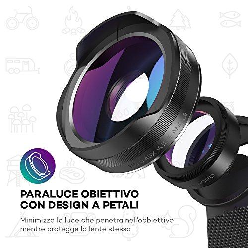 Lenti-Smartphone-VAVA-Obiettivi-Smartphone-Lente-Grandangolo-045x100-Lente-Macro-125x-Trattamento-Antiriflesso-compatibile-con-Doppia-Camera-per-iPhone-X-8-8Plus-7-6-6s-Plus-Samsung-S6