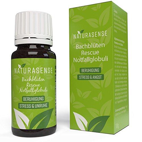 Naturasense Bachblüten Rescue Remedy Globuli - Dr. Bach Notfall Globuli - Natürliches Hilfsmittel bei Stress Unruhe