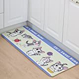 Ivie 5tamaño Fashion Cartoon Cat Play Lana Forma Exterior Alfombrilla de Puerta de Entrada con Base Antideslizante. para Cocina, vestíbulo, baño, balcón, Sala de Estar