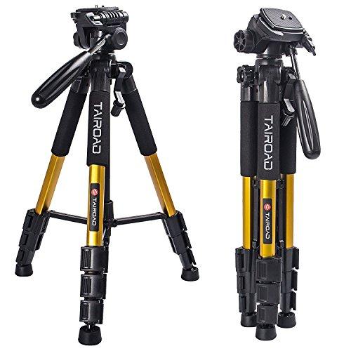 Treppiede leggero Treppiede compatto da 140 con testa 360 gradi e piastra di rilascio rapido per fotocamere digitali Canon EOS Nikon Sony Panasonic