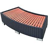 vidaXL Spa Step Poly Rattan 92x45x25cm Black Hot Tub Bathing Pool Footsteps