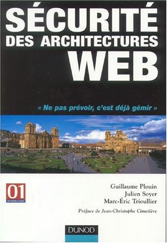 Sécurité des architectures web par Guillaume Plouin