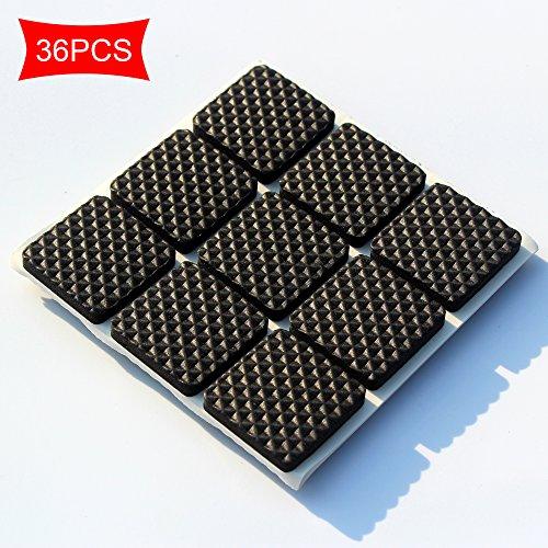Premium-Möbel-Pads, Heavy Duty Self Stick Möbel Filz-Pads Für Hartholz-Fußböden & Lärm-Dämpfung Clear Gummi Stoßstangen Pads Square 2.5CMX2.5CM 36PCS -