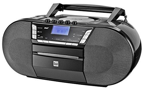 ttenradio mit CD - DAB(+)/UKW-Radio - Boombox - CD-Player - Stereo Lautsprecher - USB-Anschluss - Aux-Eingang - Netz- / Batteriebetrieb - Tragbar Schwarz ()