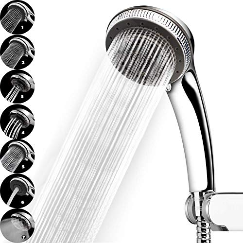Delicious Electric Water Heater Parts Silver Color Chrome Shower Head With 3 Mode Function Spray Anti-limescale Universal Handheld Home Water Heater Parts
