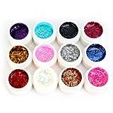 Davidsonne UV Gel 12 x 5ml Set Color Mischung Farbgel Nagel Nail Art künstliche Nagel Nagelstudio Nägeln Nagelgel Colorgel Deko Design