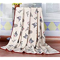 HJLHFD Dog Blankets For Large Dogs Warm Pet Bed Mat Big Dog Cat House Sleeping Covered Mat Bulldog Blanket Can Be Covered 150X200Cm