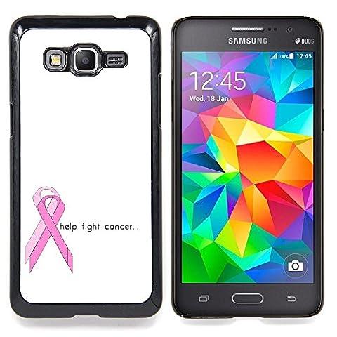 Graphic4You Help Fight Cancer Ribbon Design Coque Cache Étui Housse de Protection pour Samsung Galaxy Grand Prime