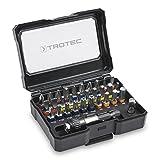TROTEC, Set di punte per avvitatore, con codifica a colori e supporto universale, 32pezzi
