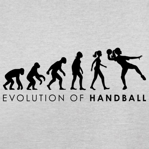 Evolution of Woman - Handball - Herren T-Shirt - 13 Farben Hellgrau