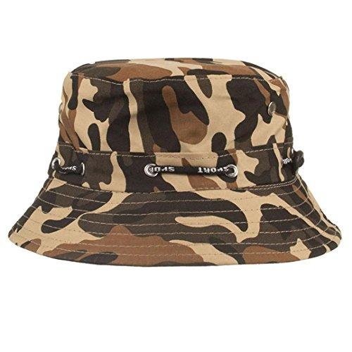 Hot sale!!cappello unisex adulto-sun stash, cappello double fac da sole tempo libero é spiaggia cappuccio regolabile cappelli mimetici mens dell'esercito cap nepalese pescatore (caffè)