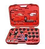 MCTECH Kit di tester per sistema di raffreddamento, 27 pezzi, tester pressione del radiatore, serbatoio dell'acqua, rilevamento perdite, attrezzi per automobili