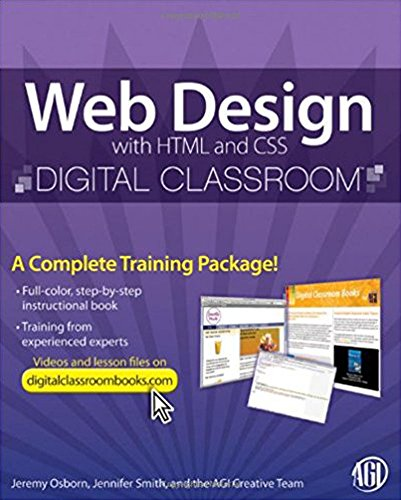 Web Design with HTML and CSS Digital Classroom, (Book and Video Training) (English Edition) (Creative Html Design)