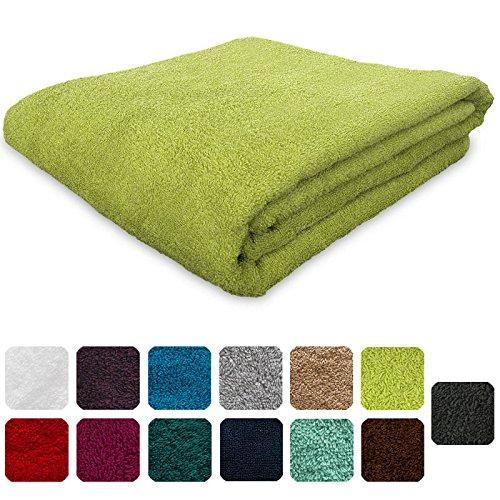 Lanudo®, asciugamano da 600g/m² pure line, 50x 100cm, con bordo, 100% spugna di cotone di alta qualità, 100%  cotone, giallo limone, 50 x 100 cm