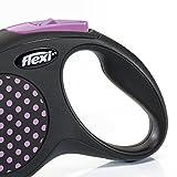flexi . Roll-Leine Design, Seil 5 m für Hunde bis Maximal 20 kg , M, pink - 2