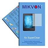 6x Mikvon SuperClear Displayschutzfolie für Amazon Kindle Paperwhite - unsichtbar - Made in Germany