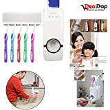 Automatic Toothpaste Dispenser & Tooth Brush Holder - Home Bathroom Acessories | toothpaste dispenser wall mount | toothpaste dispenser for kids | toothpaste dispenser and holder | toothpaste dispenser automatic |toothbrush and toothpaste holder | toothpaste holder and squeezer | toothpaste holder set |