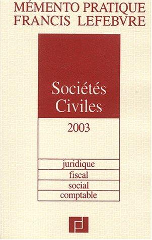 Mémento Sociétés civiles, édition 2003