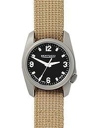 Bertucci h10301Unisex titanio patrimonio patrulla Caqui Nylon Band Negro Dial reloj