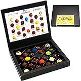 Hallingers Pralinen-Geschenk Herzlichen Glückwunsch Yellow - 24 Pralinen feinster Schokolade, z.B. für Muttertag, Vatertag, Valentinstag, Geburtstag, Danke | FirstClass-Box | 300g