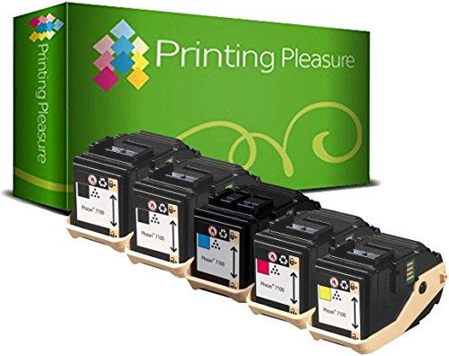 5 Toner kompatibel für Xerox Phaser 7100N 7100DN | 106R02605 5000 Seiten 106R02599 106R02600 106R02601 4500 Seiten - Xerox Laser-drucker Fuji