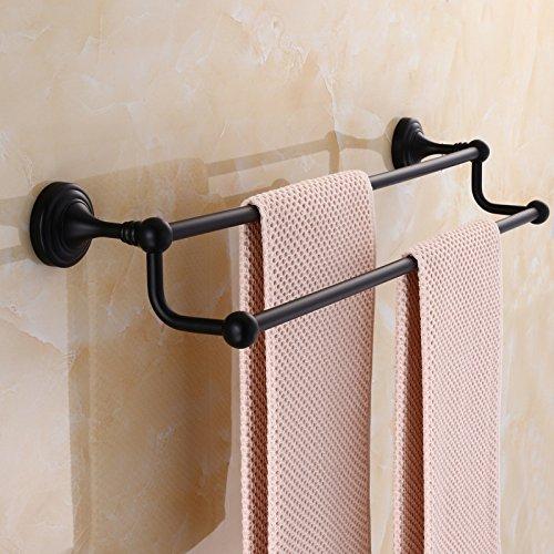LHbox TapDie Kupfer Schwarz Handtuchhalter antiken Wand Handtuchhalter Badezimmer Doppelzimmer Doppelzimmer bar Metall, 40 cm -