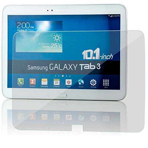 Saxonia. Displayschutz Folie aus Gehärtetem Glas für Samsung Galaxy Tab 3 10.1 Glasfolie Hartglas | HD Klar Transparent