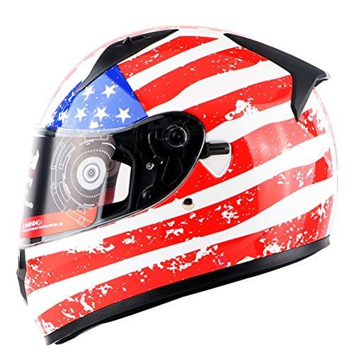 Caschi moto da uomo Full Face Motocross Doppio obiettivo Protezione UV Mountain Road Casco da moto Sicurezza Anti crash Downhill Protezione totale Casco da moto da cors