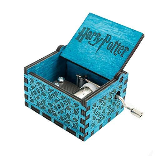 """Reine Hand Klassische Star Wars und """"Game of Thrones Classic DIY"""" Spieluhren, Holz Spieluhren Kreative Holz Hand Beste Geschenke (Blue Harry Potter)"""