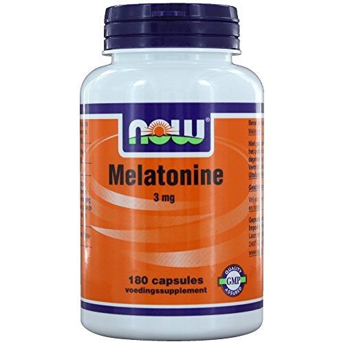 Melatonine 3 mg (180 caps) - NOW Foods - 51QBK1h3fXL