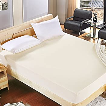 MHC Soft Warm Thermal 100/% Brushed Cotton Flannel Bed Sheet Set Flat Fitted