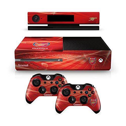 Arsenal FC Xbox 1 Eine rote Controller-Pad und Konsole Haut Emirates Stadion Bild Vereinswappen Fan Geschenk offiziellen