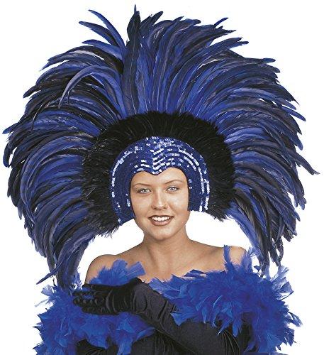 Imagen de accesorio disfraz carnaval brasileño plumas tocado, brazil * 19660 turquesa talla única