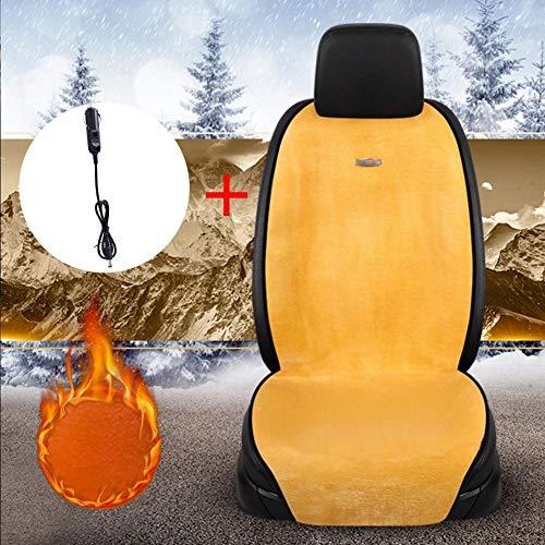 Zhichu Beheizt Auto Sitzkissen Auto Sitzbezug Wärmer Auto Kopf Kissen Winter Heizkissen für Auto Home Office Stuhl