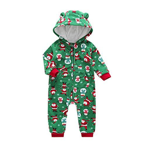 i-uend Baby 2019 Overall - Neugeborenes Kleinkind Baby Jungen Mädchen Cartoon Weihnachten Warm Hooded Strampler Overall für 3-24 Monate