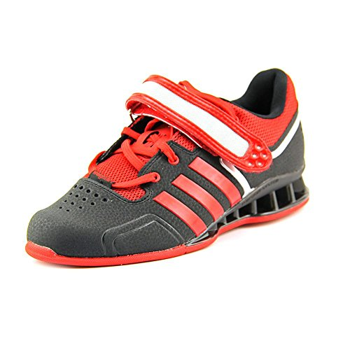 the latest 05a78 e1032 Adidas adiPower Weightlift Shoes - nero  scarlatto  Tech Grey Metallic  (3.5)