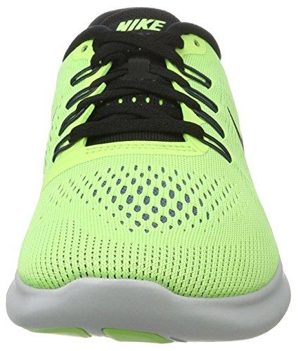 Nike - Free Rn, Pantofole Uomo Verde (Ghost Grn/black-bl Mn-pr Pltnm)