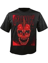 """T-Shirt """"Punk Skull - Punker - Skull - Totenkopf - Schädel"""" in Schwarz"""