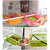 Floraware Plastic Refrigerator Storage Rack Set, Set of 4, Multicolour