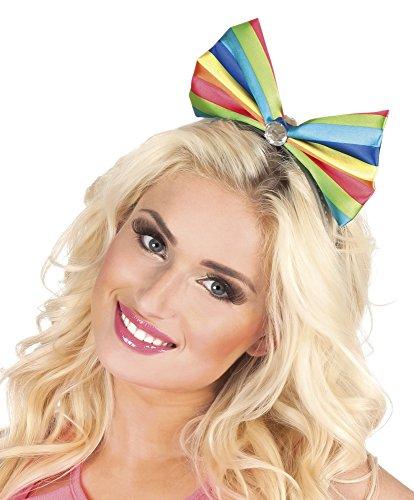 Halloweenia - Kostüm Haarreif Tiara Candy Clown Regenbogen, Mehrfarbig (Regenbogen Tiara)