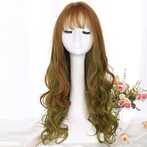 Kurze lockige Kinky Haar Perücken für Frauen Synthetische Perücke Mode Glamour Hairpiece Hitzebeständige Faser mit Wip Cap (Kostüme Beginnend Mit E)