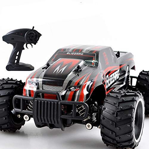 Amyitis 2.4G Fernbedienung Offroad-Hochgeschwindigkeits-Auto, 1:16 Aufladung Spielzeugauto Offroad-Klettern Rennwagen-Modell,Red