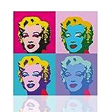 Quadro Marilyn Monroe stile Andy Warhol design tela Pop Art Telaio in Legno Colorscrazy