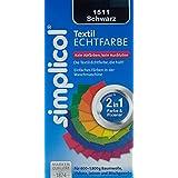 Simplicol 1511 Textil-Echtfarbe, fluessig, Schwarz, 150 ml + 500 g Echtfix