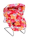 #5: Tender Care India 10 in 1 Multipurpose Baby Carry Cot with Mosquito Net and Sun Shade (Red)