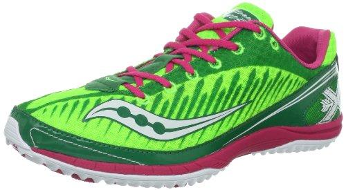 Saucony Women's Kilkenny XC5 Spike Cross-Country Shoe,Green/Pink,10 M US