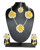 #8: Sanvatsar Yellow Rose Mogra Flower Jewellery Set (haldi mehndi sangeet wedding bridal)