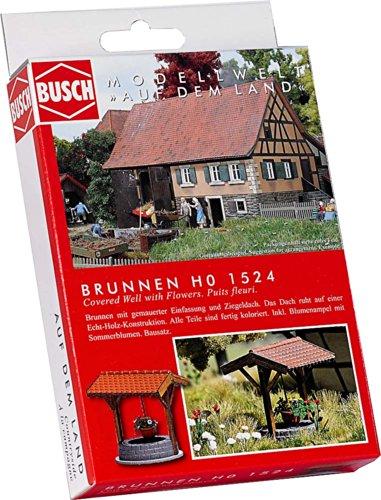 Busch 1524 - Brunnen mit Blumenampel
