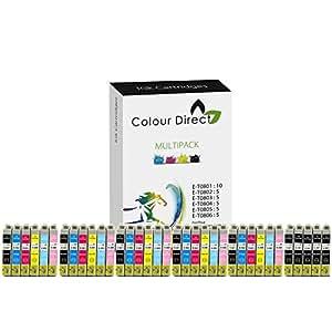 35 Colour Direct Compatible Ink Cartridges Replacement For Epson Stylus Photo R265, R285, R360 , RX560, RX585, RX685, P50, PX650, PX660, PX700W, PX710W, PX720WD, PX730WD PX800FW, PX810FW, PX820FWD Printers